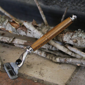 Sustainable Organic Teak Wood Razor by Old Factory and Proteak